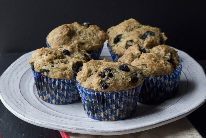 SOY-FREE VEGAN BLUEBERRY MUFFINS